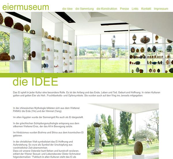 Screenshot 3 Website Eiermuseum