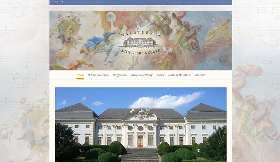 Screenshot Website Halbturner Schlosskonzerte