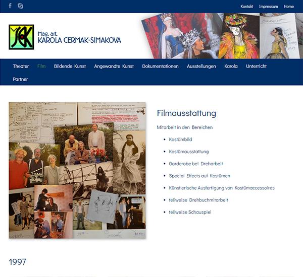 Screenshot 3 Website Karola Cermak