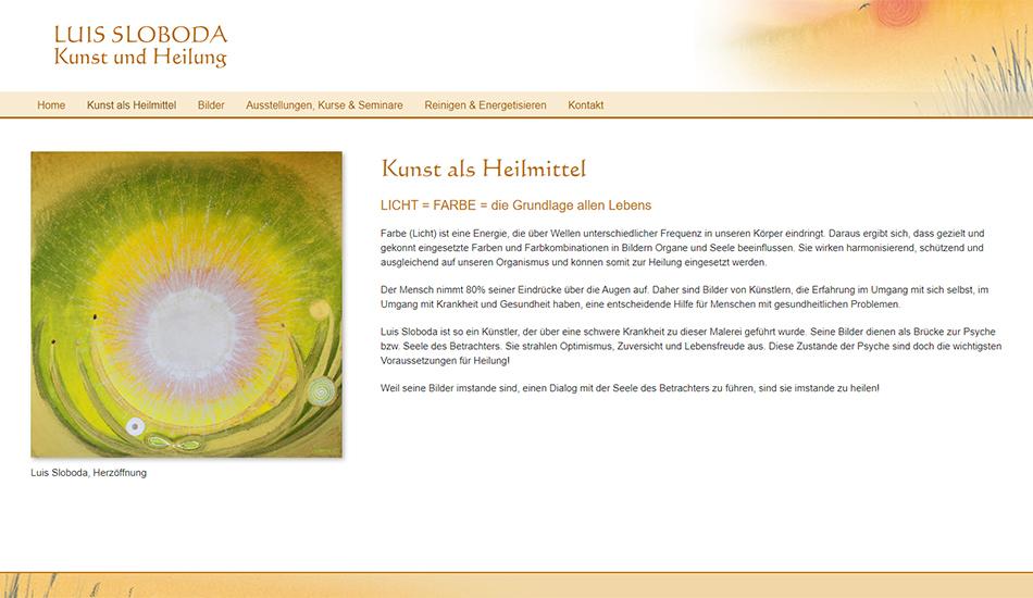 Screenshot 1 Website Luis Sloboda