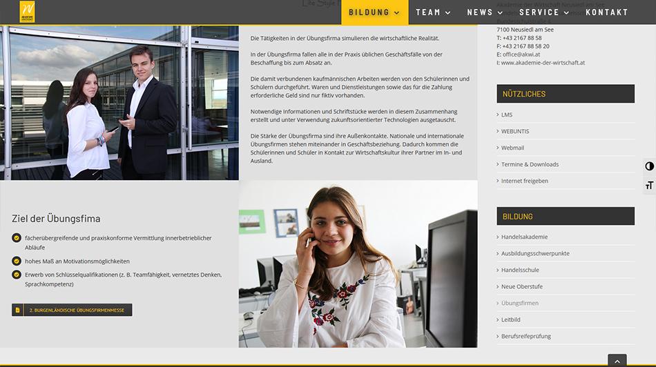 Akademie der Wirtschaft Screen 1