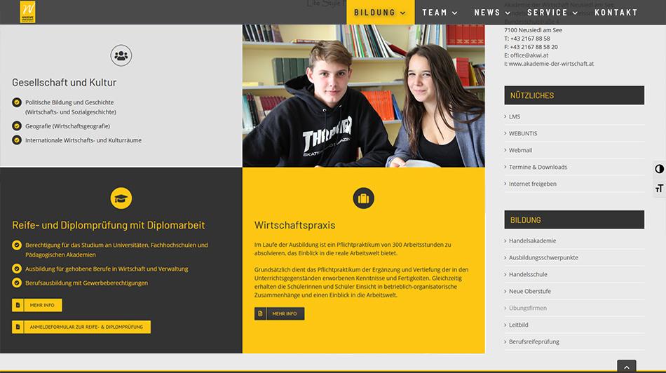 Akademie der Wirtschaft Screen 2