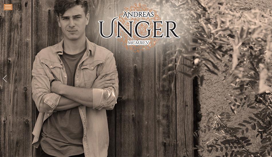 Andreas Unger Website Startseite