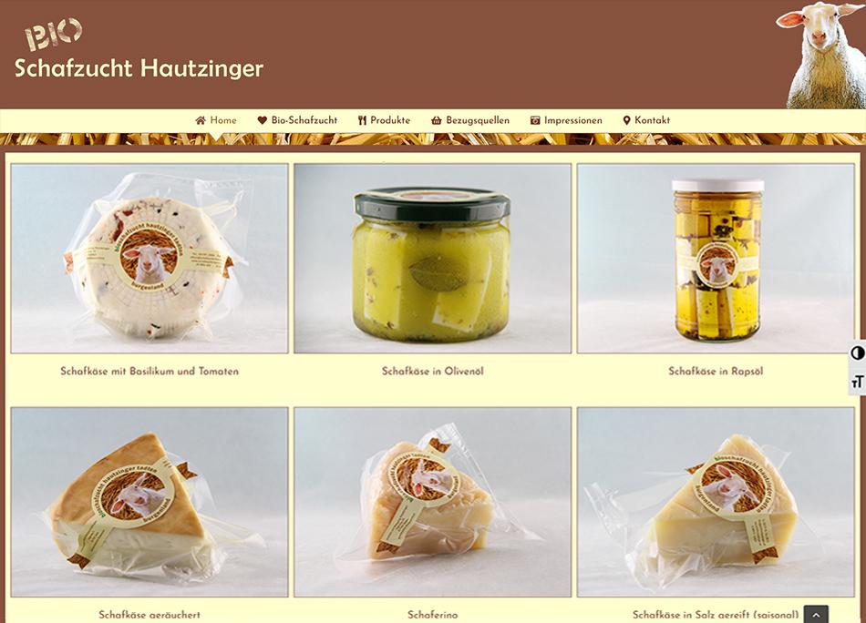 Bio-Schafzucht Hautzinger Website Screen 1