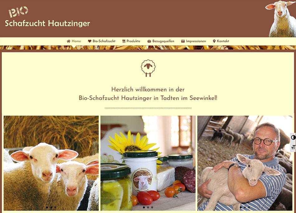 Bio-Schafzucht Hautzinger Website Startseite