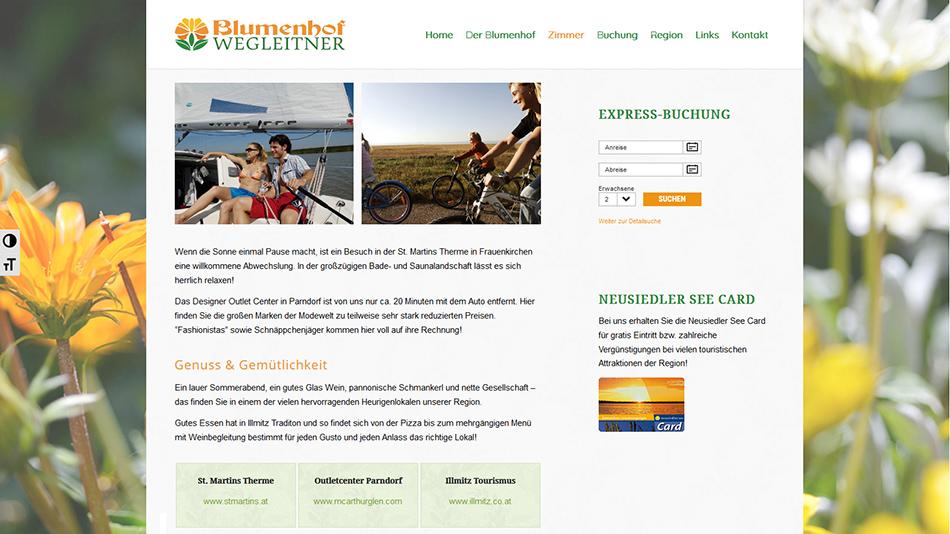Blumenhof Website Screen 2