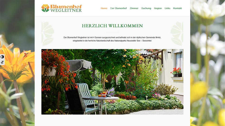 Blumenhof Website Startseite