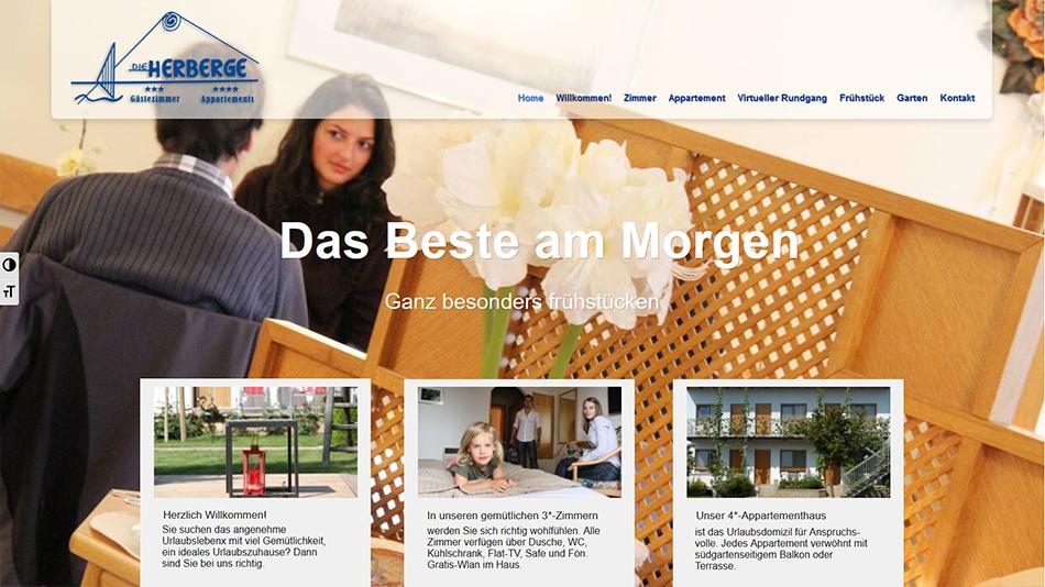 Die Herberge Website Startseite