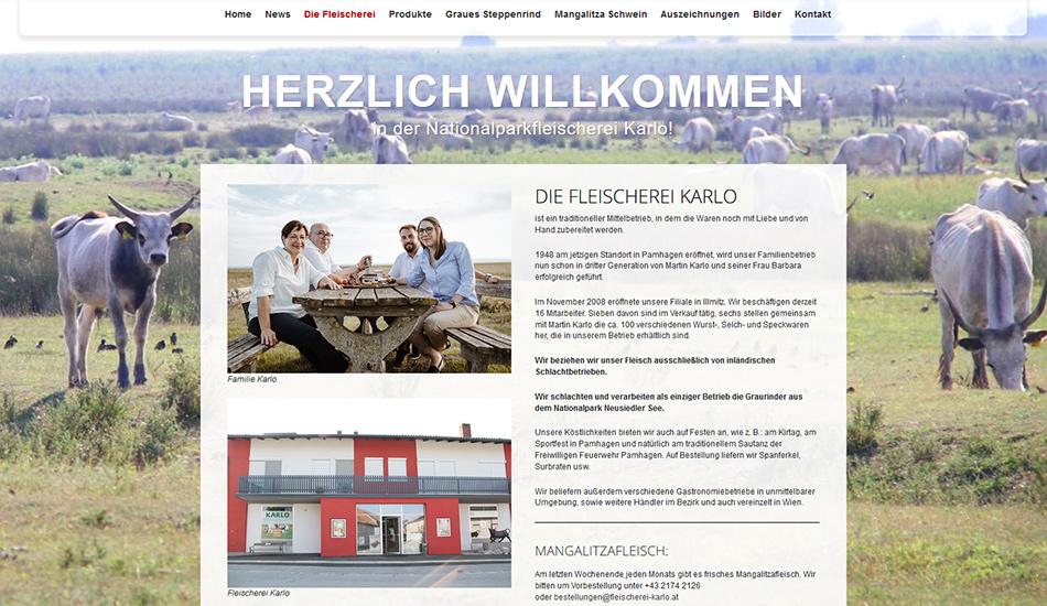 Nationalpark-Fleischerei Karlo Website Screen 1