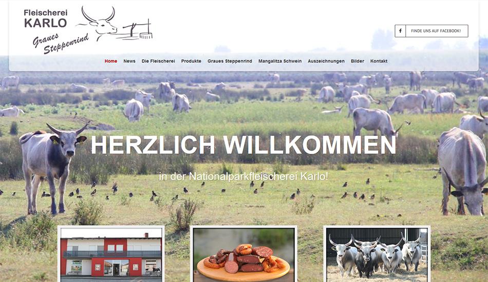 Nationalpark-Fleischerei Karlo Website Startseite