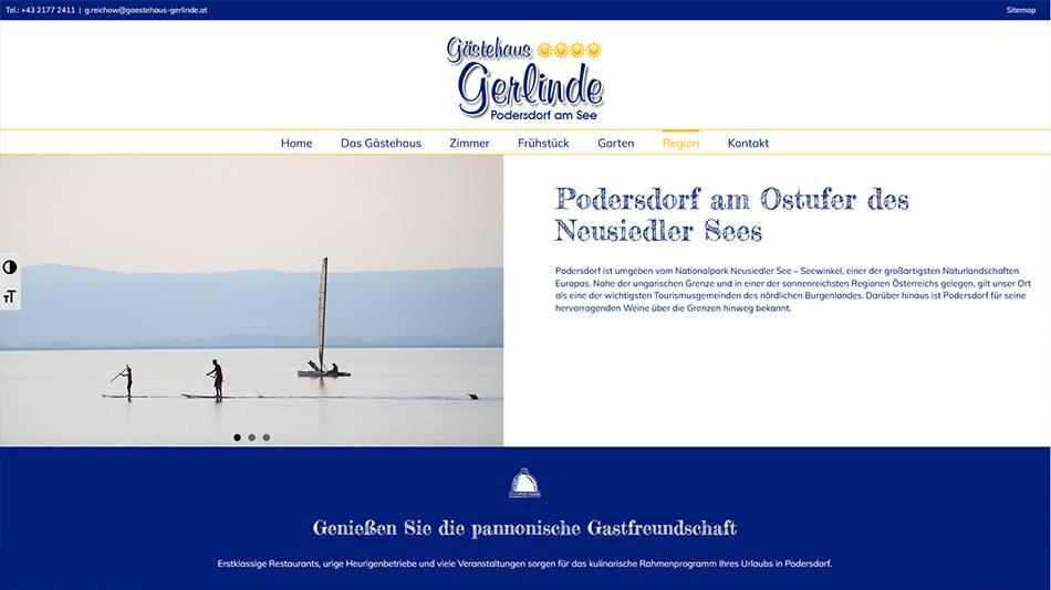 Gästehaus Gerlinde Website Screen 3