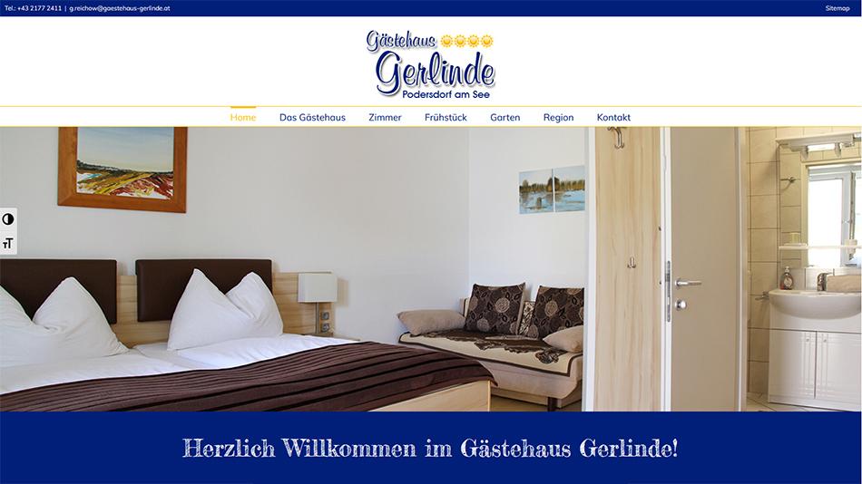 Gästehaus Gerlinde Website Startseite