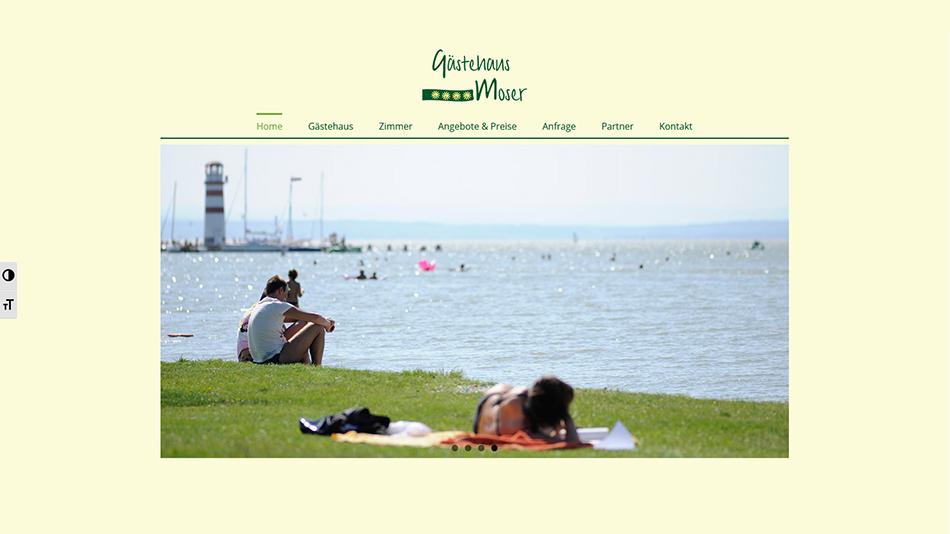Gästehaus Moser Website Startseite