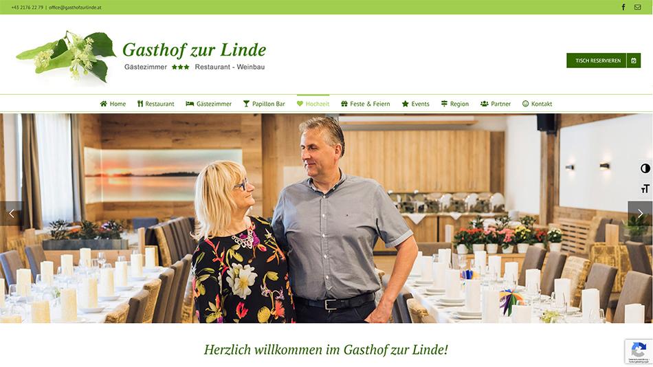 Gasthof zur Linde Website Startseite