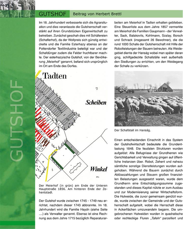 Gemeindechronik Tadten, Seite Gutshof