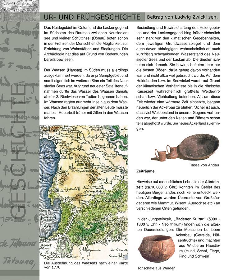Gemeindechronik Tadten, Seite Ur- & Frühgeschichte