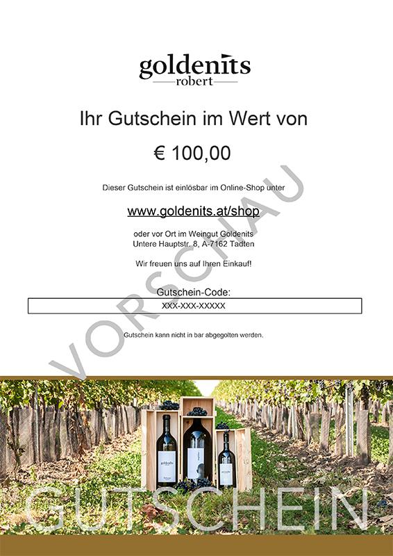 Goldenits Robert Shopgutschein Preview 100