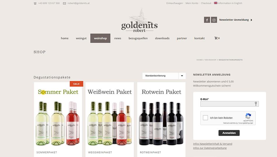 Goldenits Robert Onlineshop