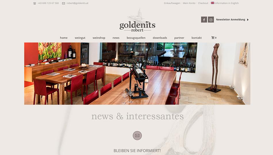 Goldenits Robert Website Screen 2
