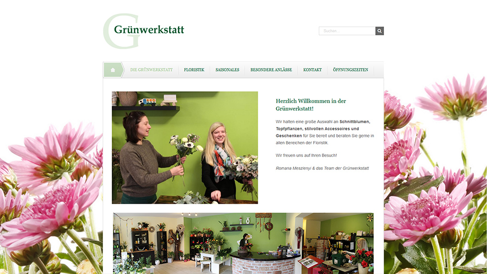 Grünwerkstatt Website Screen 2