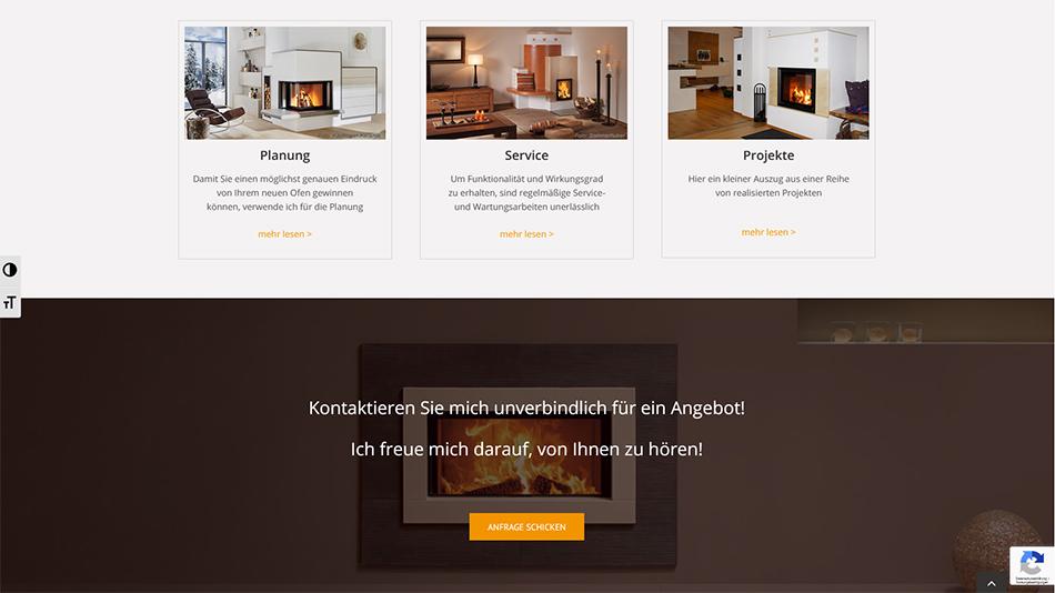 Hafner Meisterbetrieb Website Screen 1