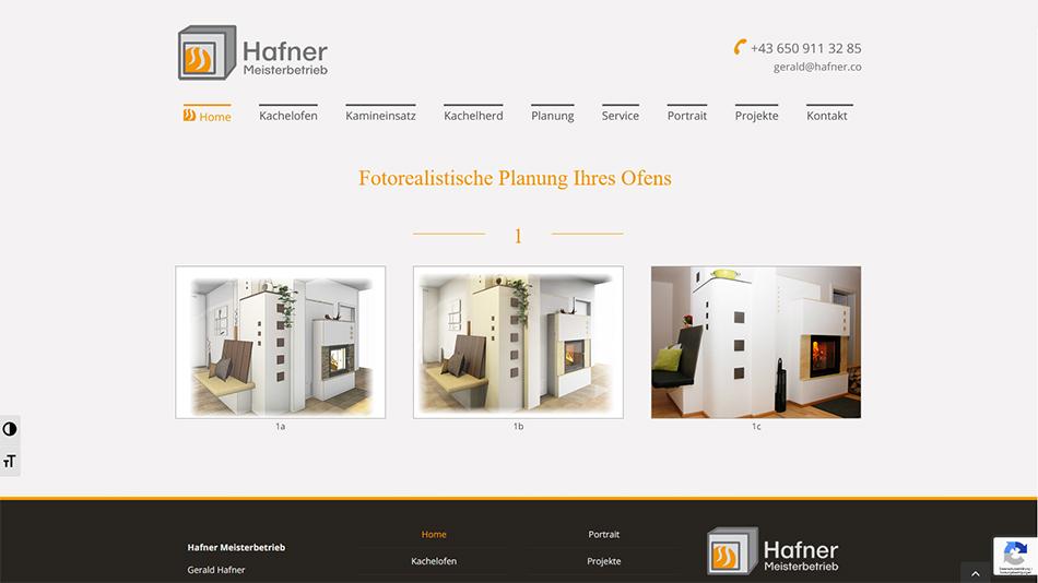 Hafner Meisterbetrieb Website Screen 2