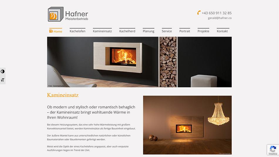 Hafner Meisterbetrieb Website Screen 3