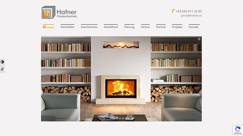 Hafner Meisterbetrieb Website Startseite