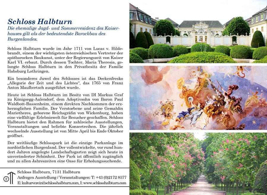 Ortsprospekt Gemeinde Halbturn Seite Schloss