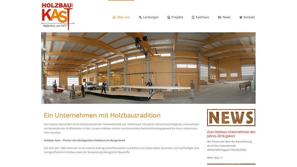 Kast Website Screen 1