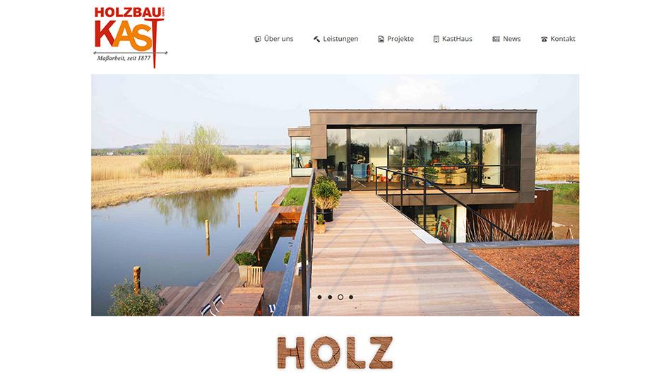 Kast Website Startseite