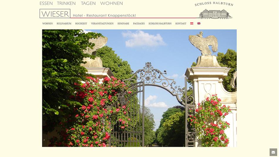 Knappenstöckl - Schloss Halbturn, Website Startseite