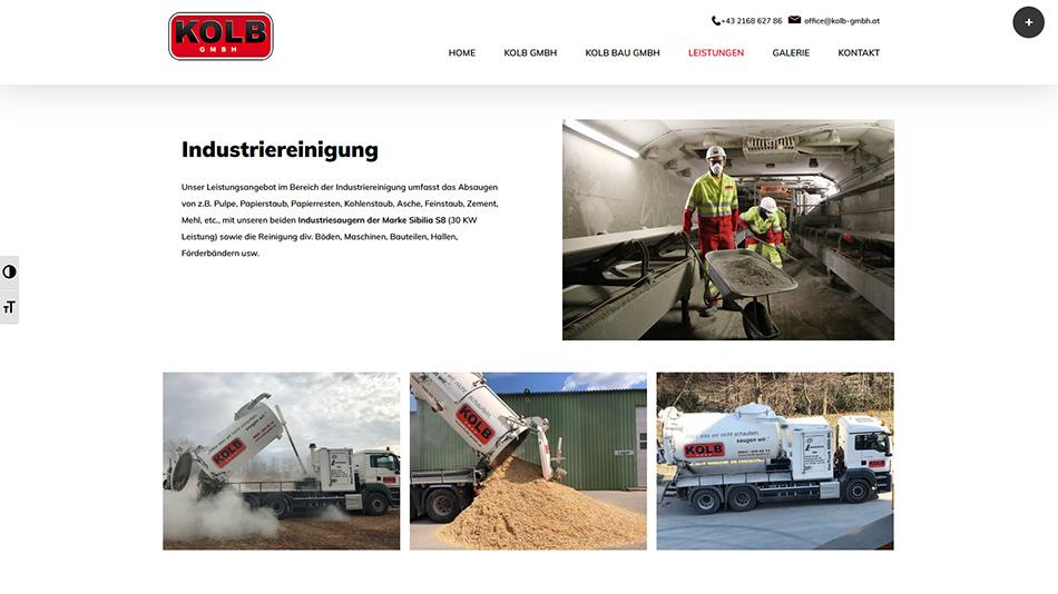 Kolb Website Screen 3