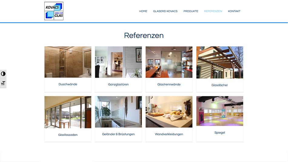 Glaserei Kovacs Website Screen 2