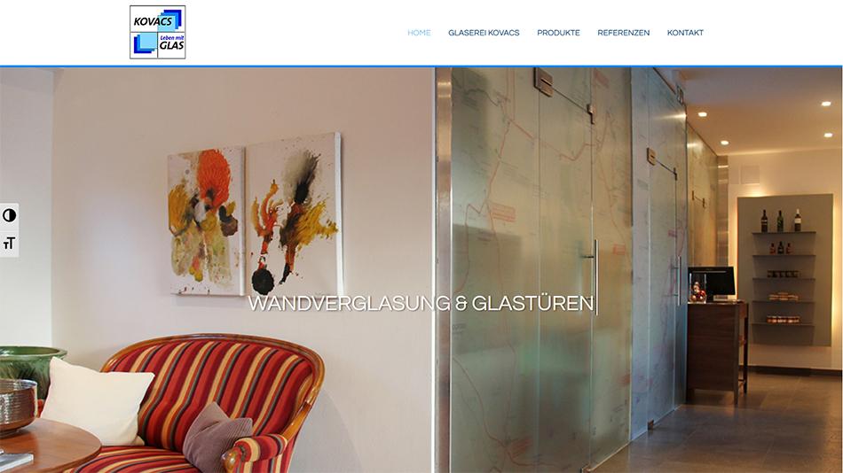 Glaserei Kovacs Website Startseite