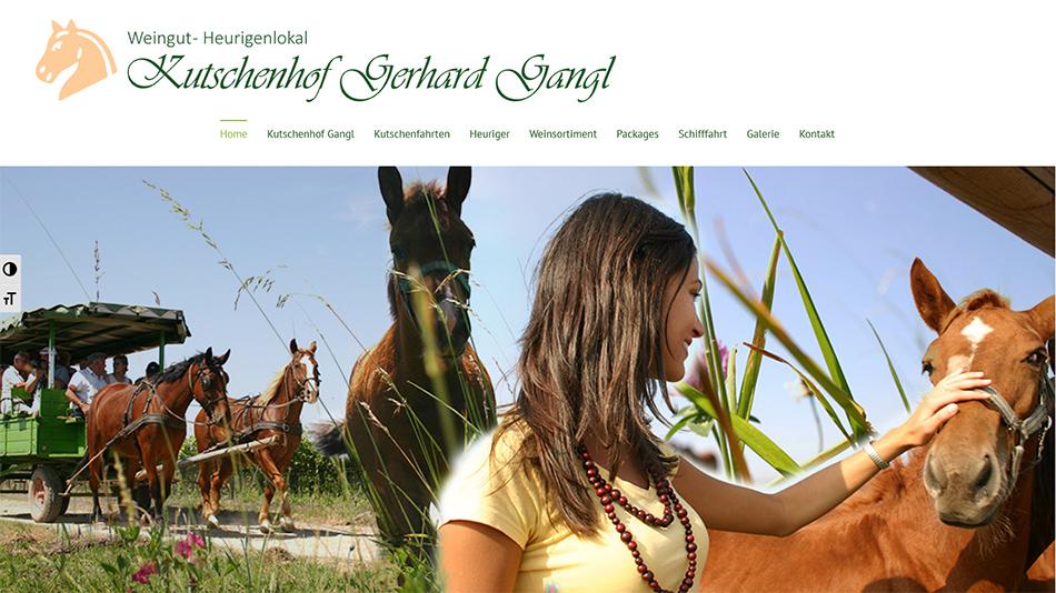 Kutschen Gangl Website Startseite