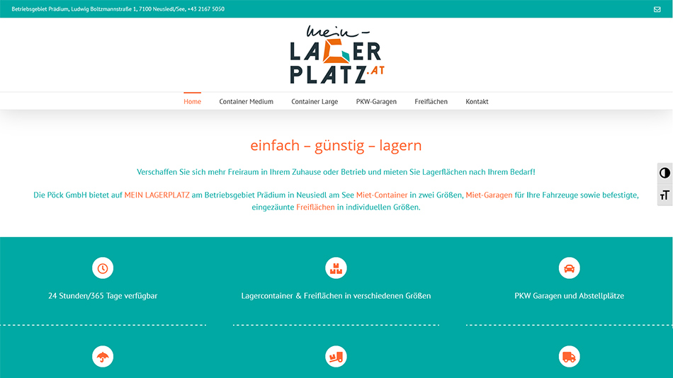 Mein Lagerplatz Website Screen 1
