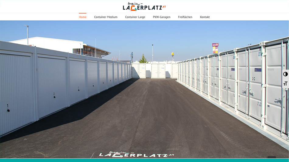 Mein Lagerplatz Website Screen 2