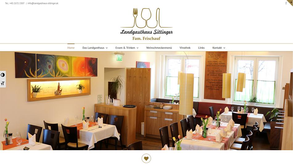 Landgasthaus Sittinger Website Startseite