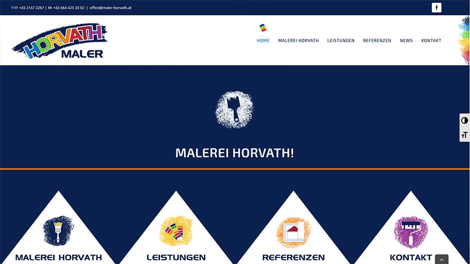 Maler Horvath Website Startseite