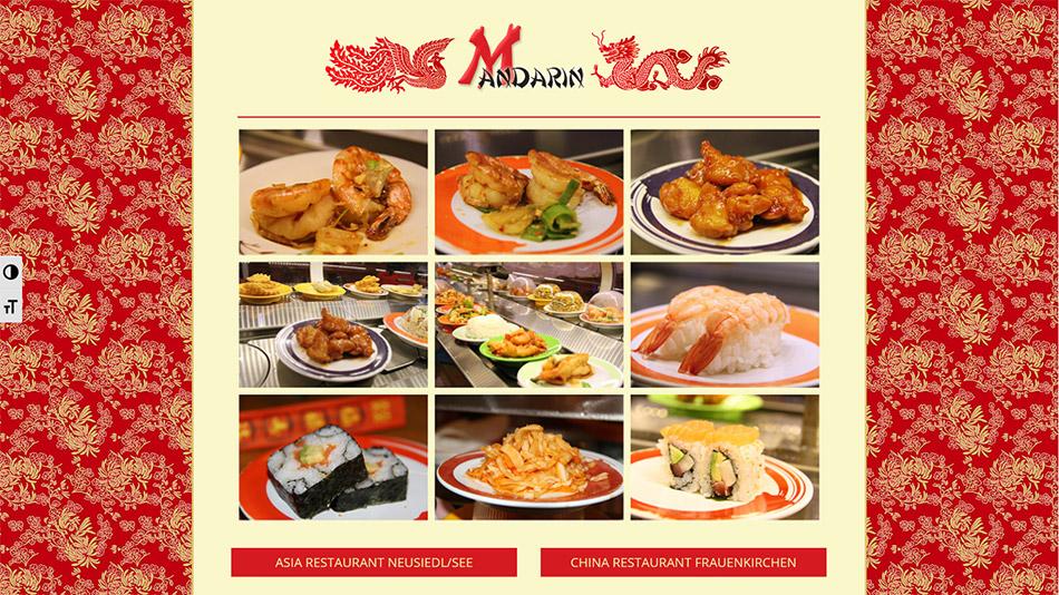 Restaurant Mandarin Website Screen 1