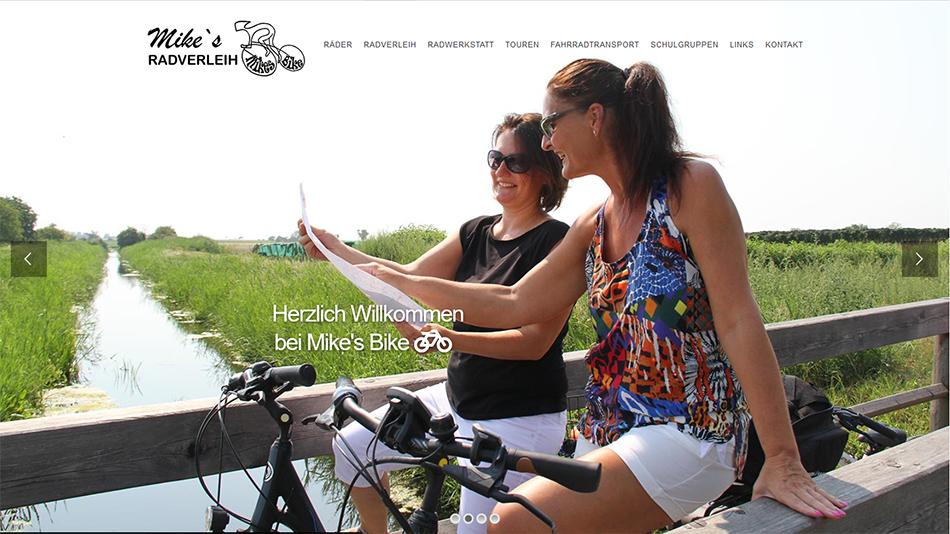 Mikes Bike Website Startseite