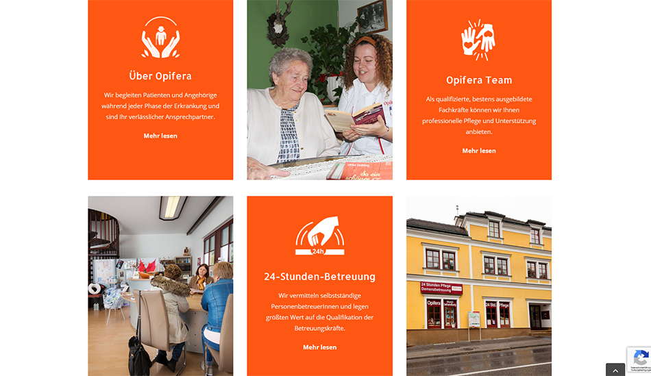 Opifera Website Screen 3