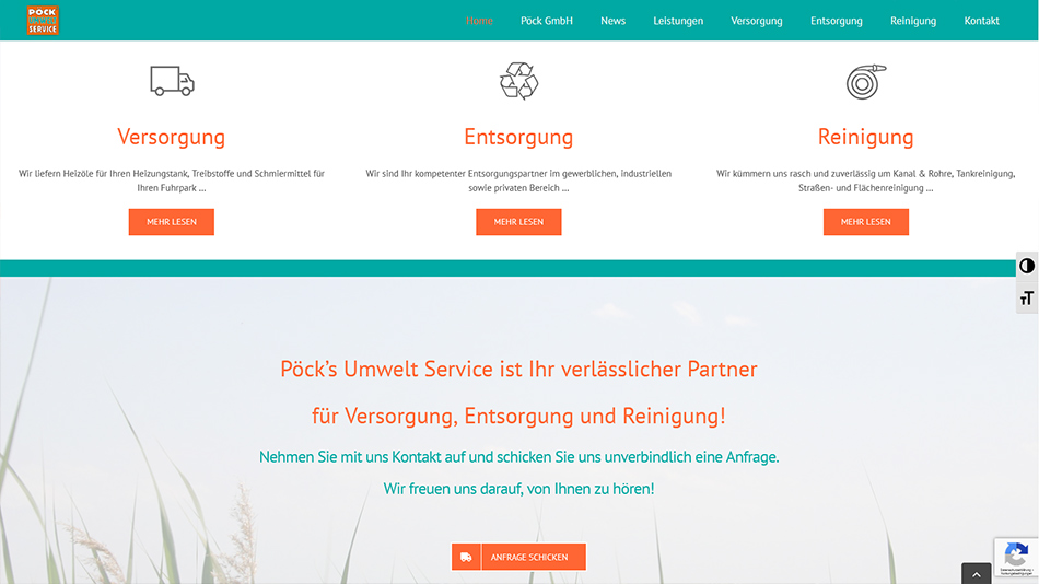 Pöck Website Screen 1