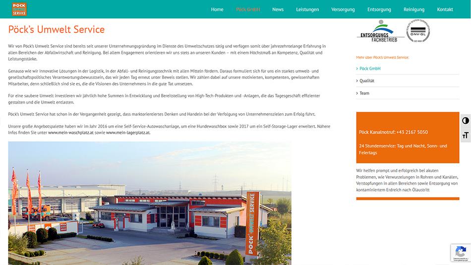 Pöck Website Screen 2