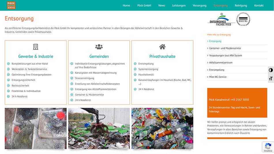Pöck Website Screen 3