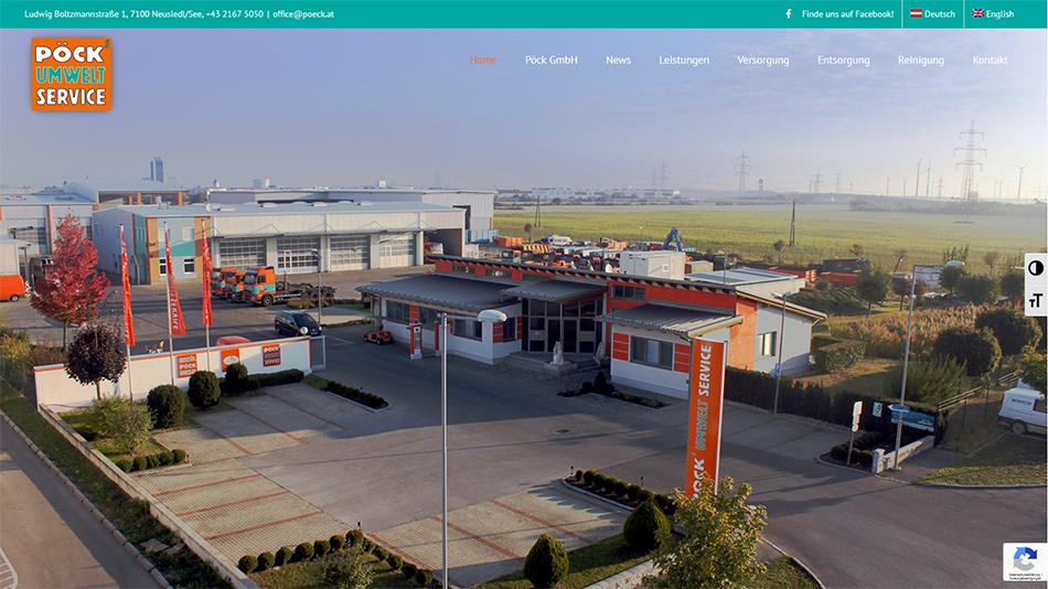 Pöck Website Startseite