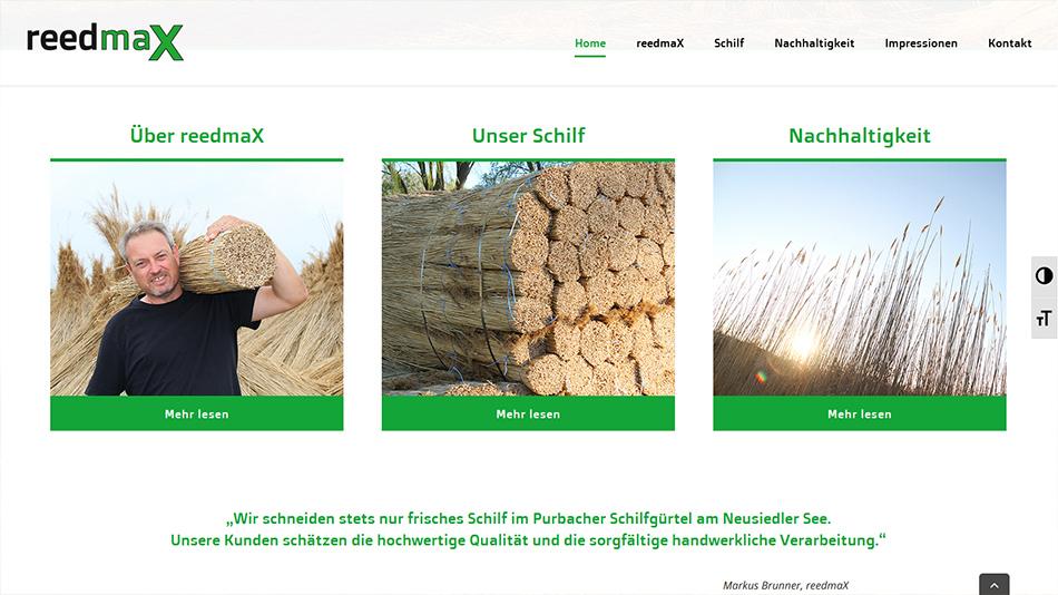 reedmaX Website Screen 3