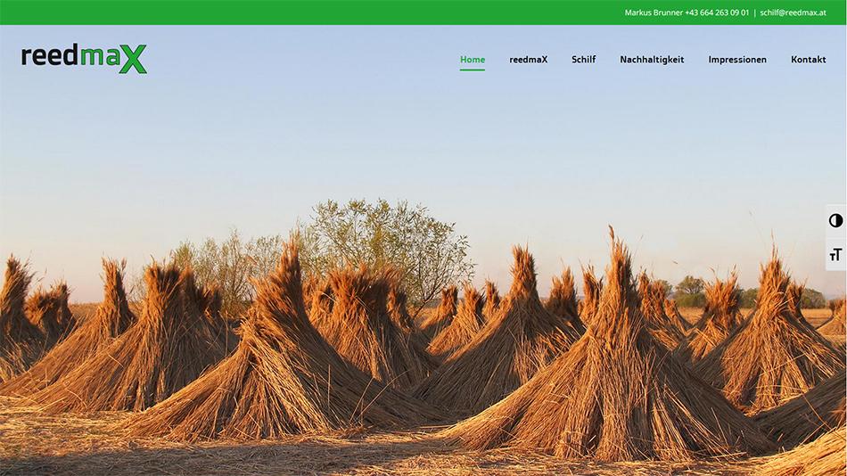reedmaX Website Startseite