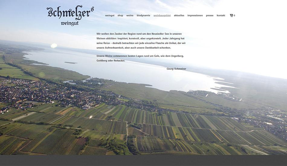 Schmelzers Weingut Website Screen 2